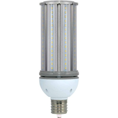 Satco Hi-Pro 45W Clear Corn Cob Mogul Base LED High-Intensity Replacement Light Bulb