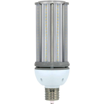 Satco Hi-Pro 54W Clear Corn Cob Mogul Base LED High-Intensity Replacement Light Bulb