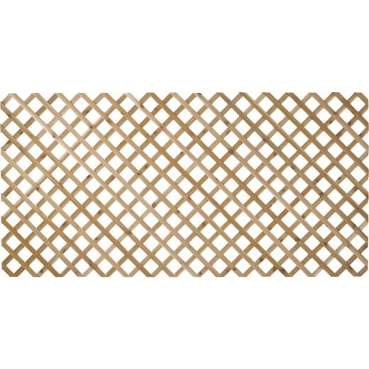 Real Wood Products 4 Ft. W. x 8 Ft. L. x 1/2 In. Thick Natural Cedar Lattice Panel