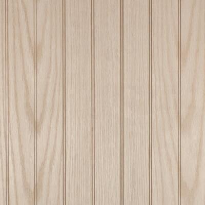 Global Product Sourcing 4 Ft. x 8 Ft. x 1/4 In. Vintage Oak Beaded Classic Wood Veneer Wall Paneling