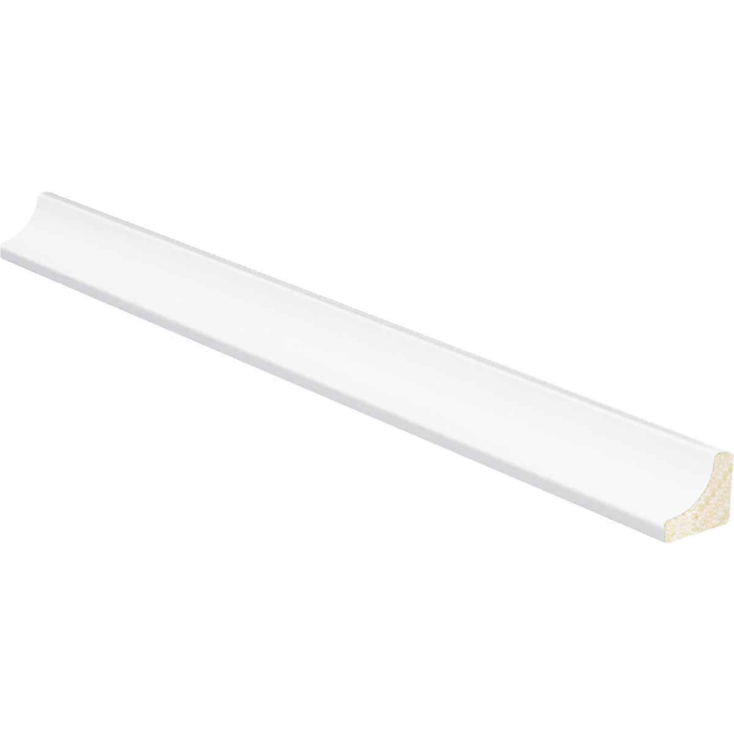 Inteplast Building Products 11/16 In. W. x 11/16 In. H. x 8 Ft. L. Crystal White Polystyrene Cove Molding Image 1
