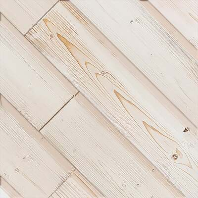 Global Product Sourcing 5.375 In. W x 5/16 In. Thick White Reclaimed Wood Shiplap Board