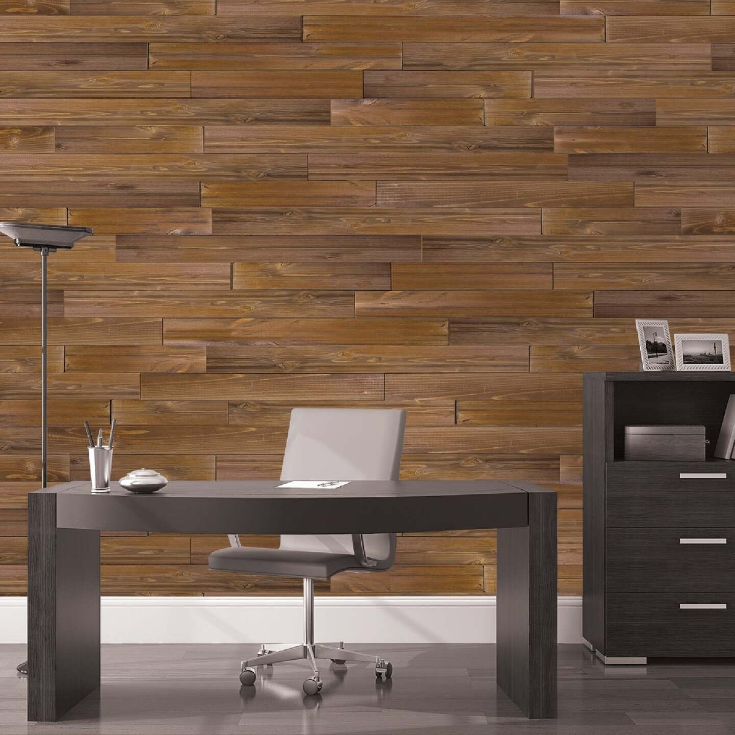 Global Product Sourcing 5.375 In W. x 5/16 In. Thick Brown Reclaimed Wood Shiplap Board Image 3