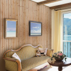 Global Product Sourcing 3-1/2 In. W. x 8 Ft. L. x 5/16 In. Thick Knotty Cedar Reversible Profile Wall Plank (6-Pack) Image 2