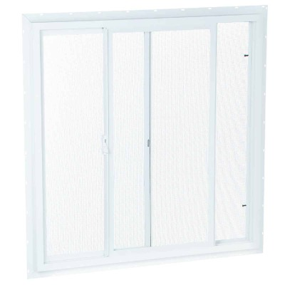 Northview 35-1/2 In. W. x 35-1/2 In. H. White PVC Single Glazed Utility Sliding Window