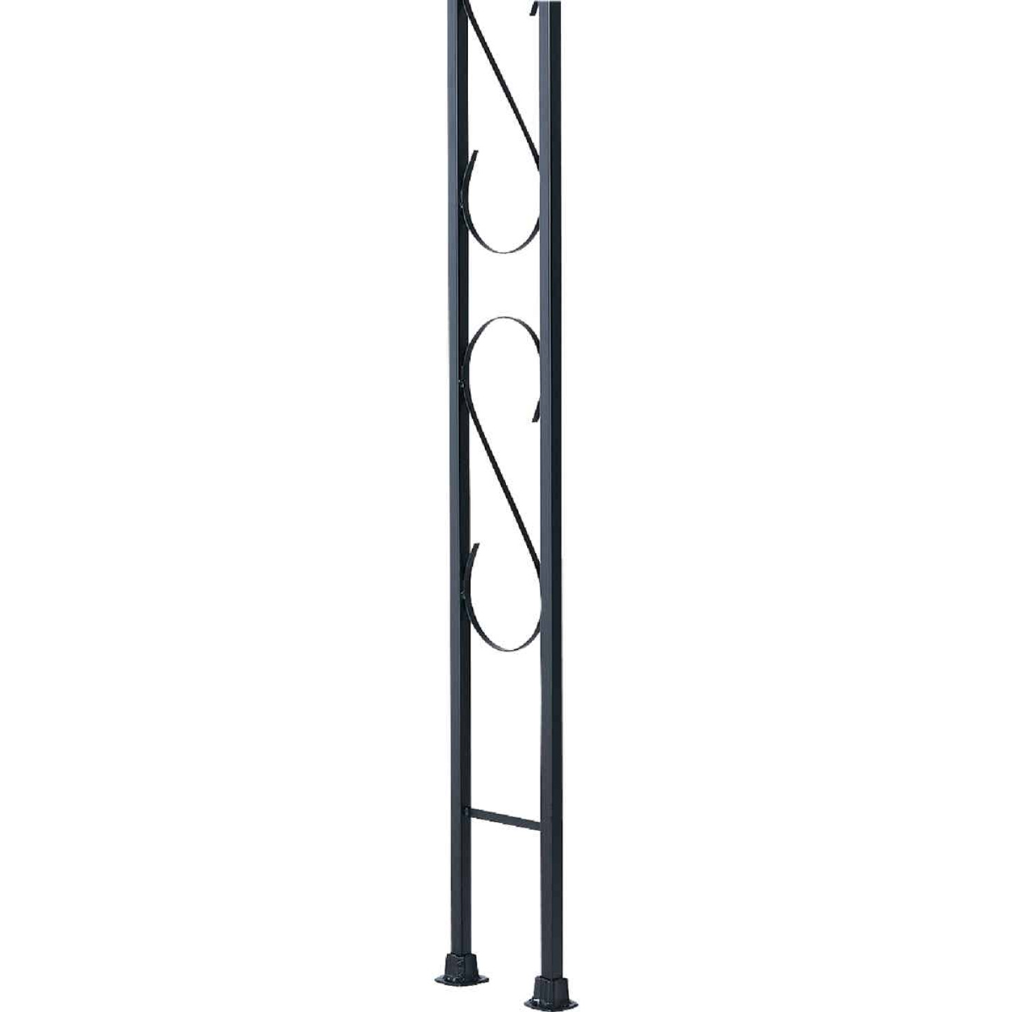 Gilpin Newport 9-1/2 In. x 8 Ft. Wrought Iron Railing Corner Iron Ornamental Column Image 1