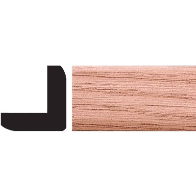 House of Fara 1 In. x 1 In. x 8 Ft. Solid Red Oak Outside Corner Molding