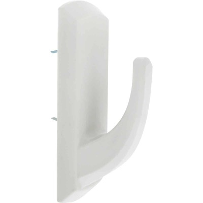 Hillman High and Mighty 20 Lb. Capacity White Rectangular Decorative Hook