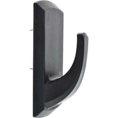 Hillman High and Mighty 20 Lb. Capacity Black Rectangular Decorative Hook