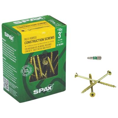 Spax #10 x 3 In. Flat Head Interior Multi-Material Construction Screw (1 Lb. Box)
