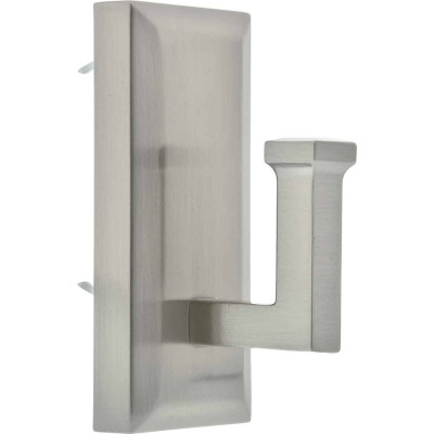 Hillman High and Mighty 15 Lb. Capacity Satin Nickel Rectangular Decorative Hook