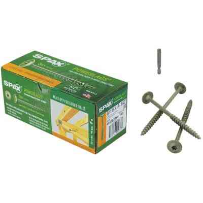Spax PowerLags 5/16 In. x 4-1/2 In. Washer Head Exterior Structure Screw (50 Ct.)