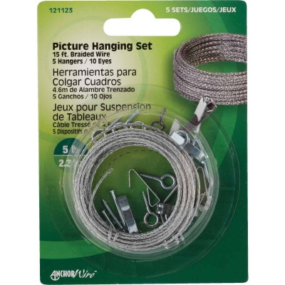 Hillman Anchor Wire 5 Lb. Capacity Picture Hanging Kit