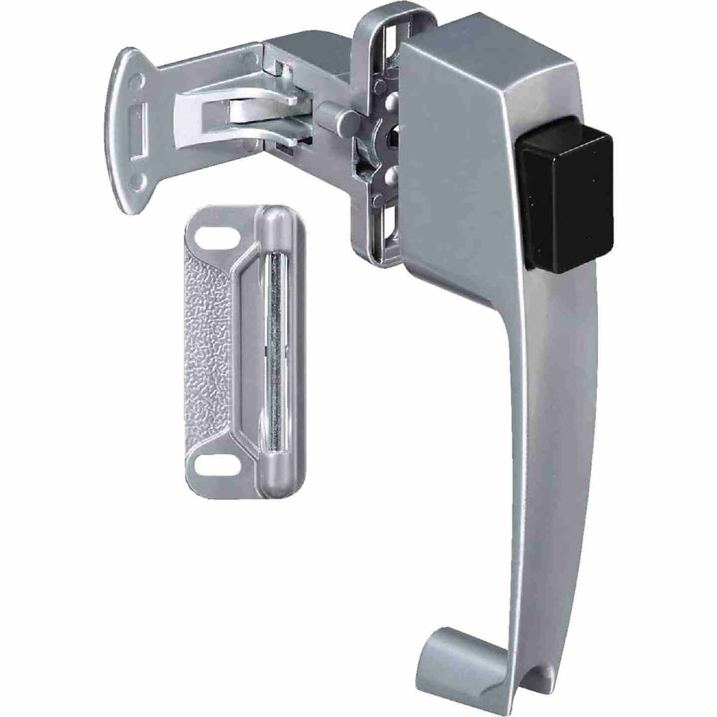 National Silver Push Button Latch Image 1
