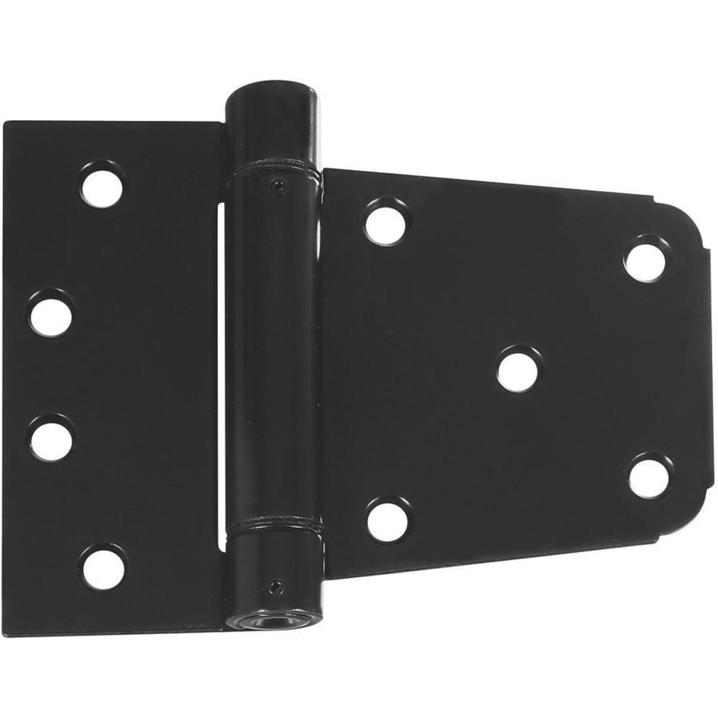 National 3-1/2 In. Black Heavy-Duty Spring Gate Hinge Image 1