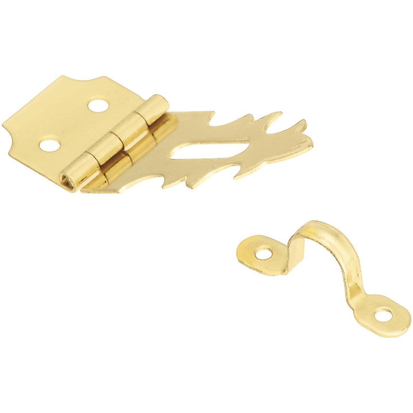 National 3/4 In. x 2-3/4 In. Solid Brass Decorative Hasp With Hook Image 1