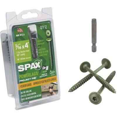 Spax PowerLags 5/16 In. x 4 In. Washer Head Exterior Structure Screw (12 Ct.)