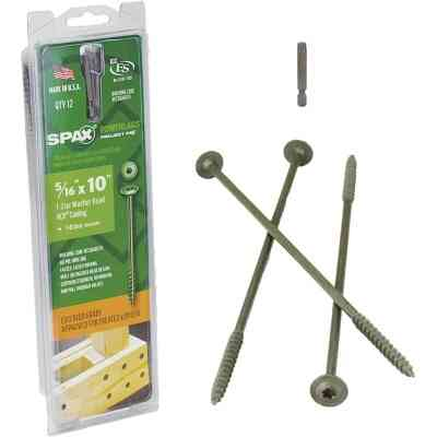 Spax PowerLags 5/16 In. x 10 In. Washer Head Exterior Structure Screw (12 Ct.)