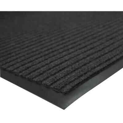 Multy Home Platinum 3 Ft. x 4 Ft. Charcoal Carpet Utility Floor Mat, Indoor/Outdoor