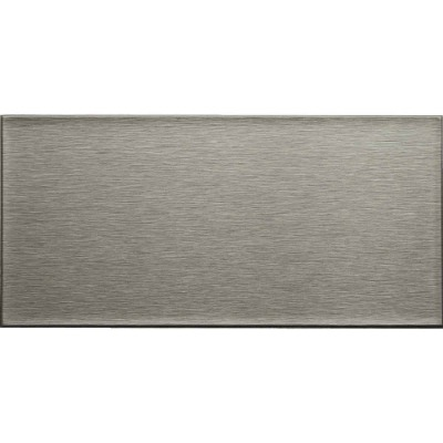Aspect 3 In. x 6 In. Aluminum Backsplash Peel & Stick, Long Grain Stainless (8-Pack)