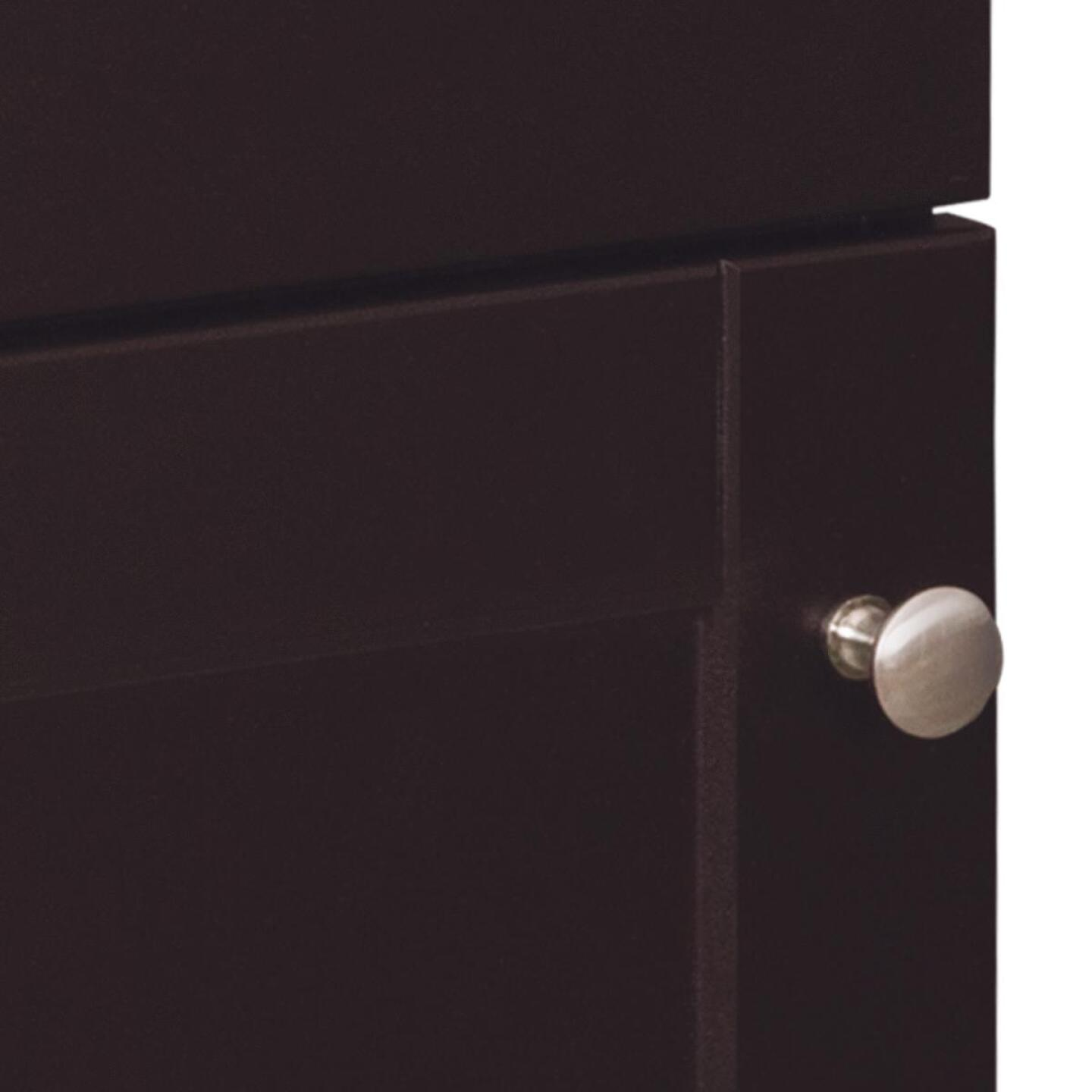 Continental Cabinets European Espresso 18 In. W x 33-1/2 In. H x 12-1/2 In. D Vanity with Cultured Marble Top Image 4