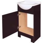Continental Cabinets European Espresso 18 In. W x 33-1/2 In. H x 12-1/2 In. D Vanity with White Cultured Marble Top Image 4