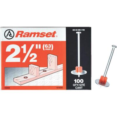 Ramset 2-1/2 In. Fastening Pin with Washer (100-Pack)