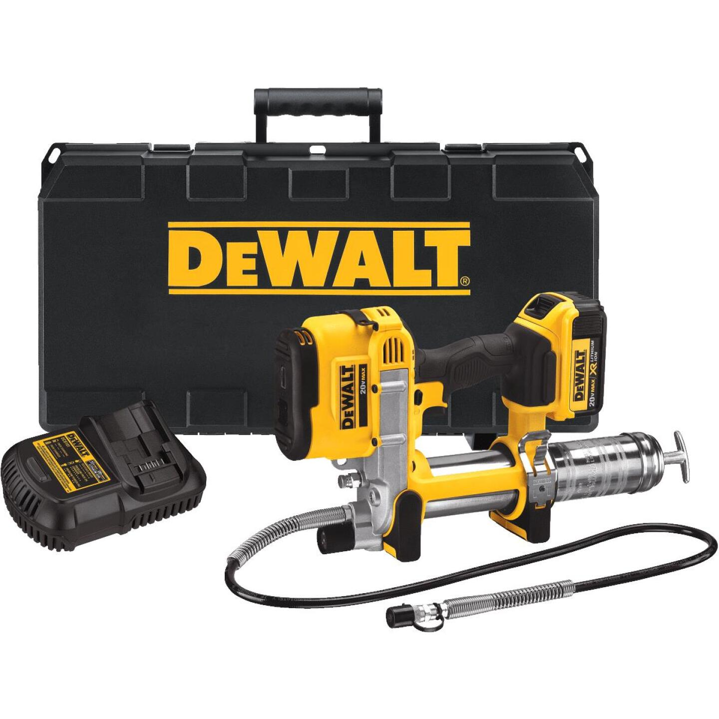 DeWalt 20 Volt MAX Lithium-Ion Cordless Grease Gun Kit Image 2