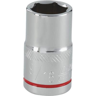 Channellock 1/2 In. Drive 9/16 In. 6-Point Shallow Standard Socket