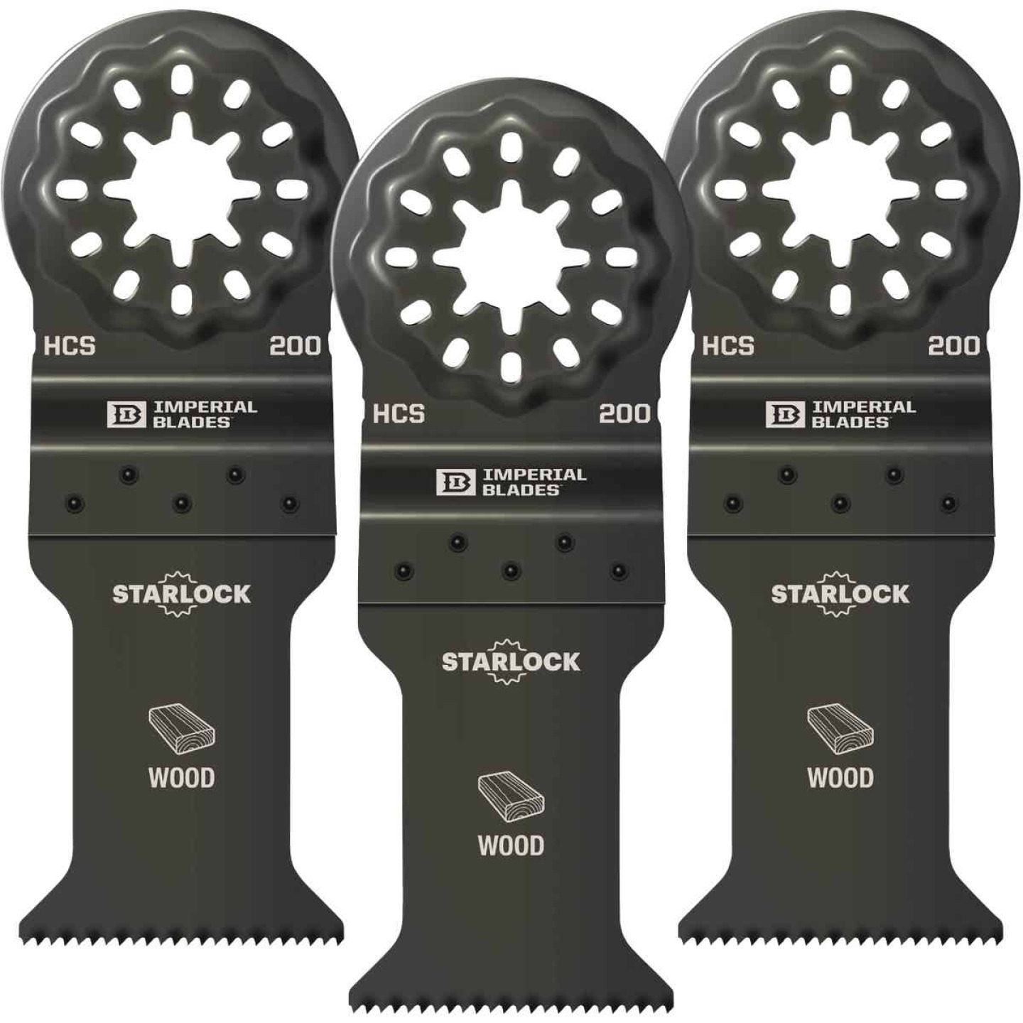 Imperial Blades Starlock 1-3/8 In. 18 TPI Fast Wood Oscillating Blade (3-Pack) Image 1