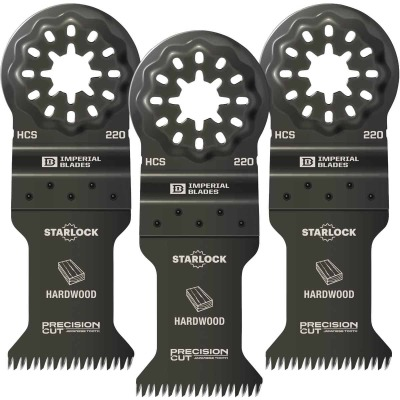 Imperial Blades Starlock 1-3/8 In. 14 TPI Precision Wood Oscillating Blade (3-Pack)