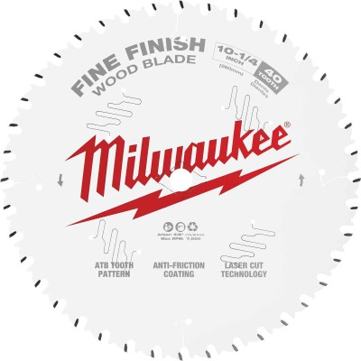 Milwaukee 10-1/4 In. 40-Tooth Fine Finish Circular Saw Blade