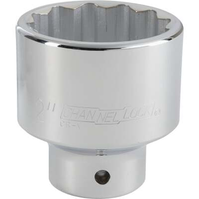 Channellock 3/4 In. Drive 2 In. 12-Point Shallow Standard Socket