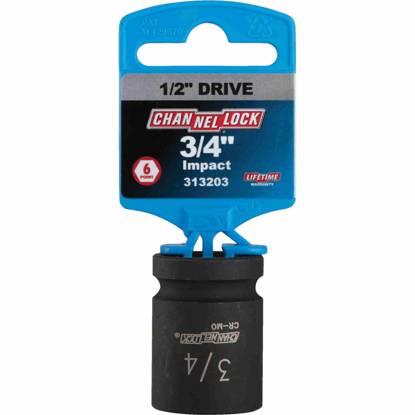 Channellock 1/2 In. Drive 3/4 In. 6-Point Shallow Standard Impact Socket Image 2