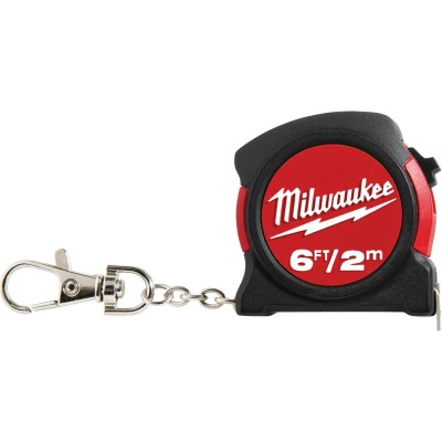 Milwaukee 6 Ft. Key Ring Tape Measure, Bulk