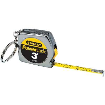 Stanley PowerLock 3 Ft. Key Ring Tape Measure