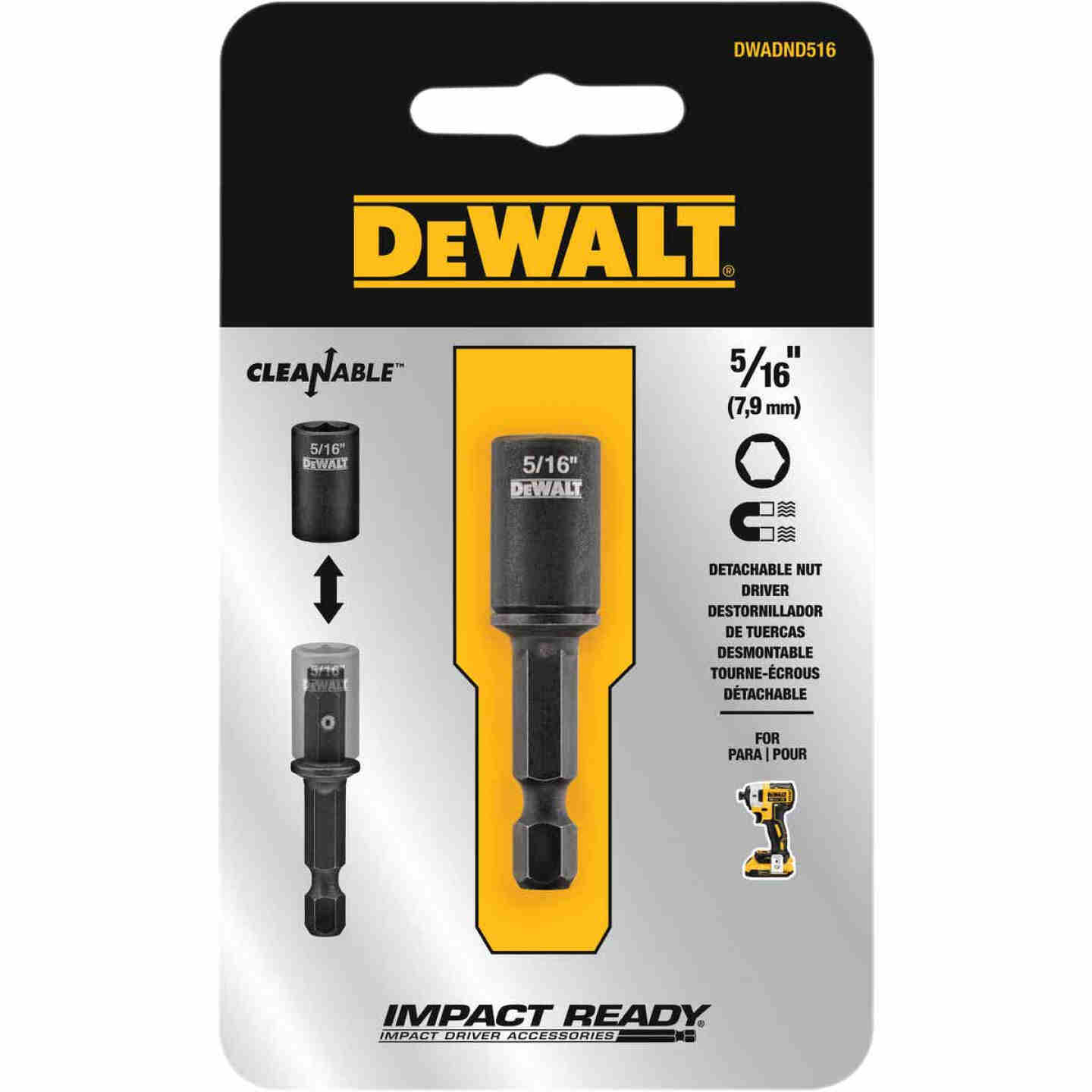 DeWalt Impact Ready 5/16 In. x 2 In. Cleanable Magnetic Nutdriver Image 1