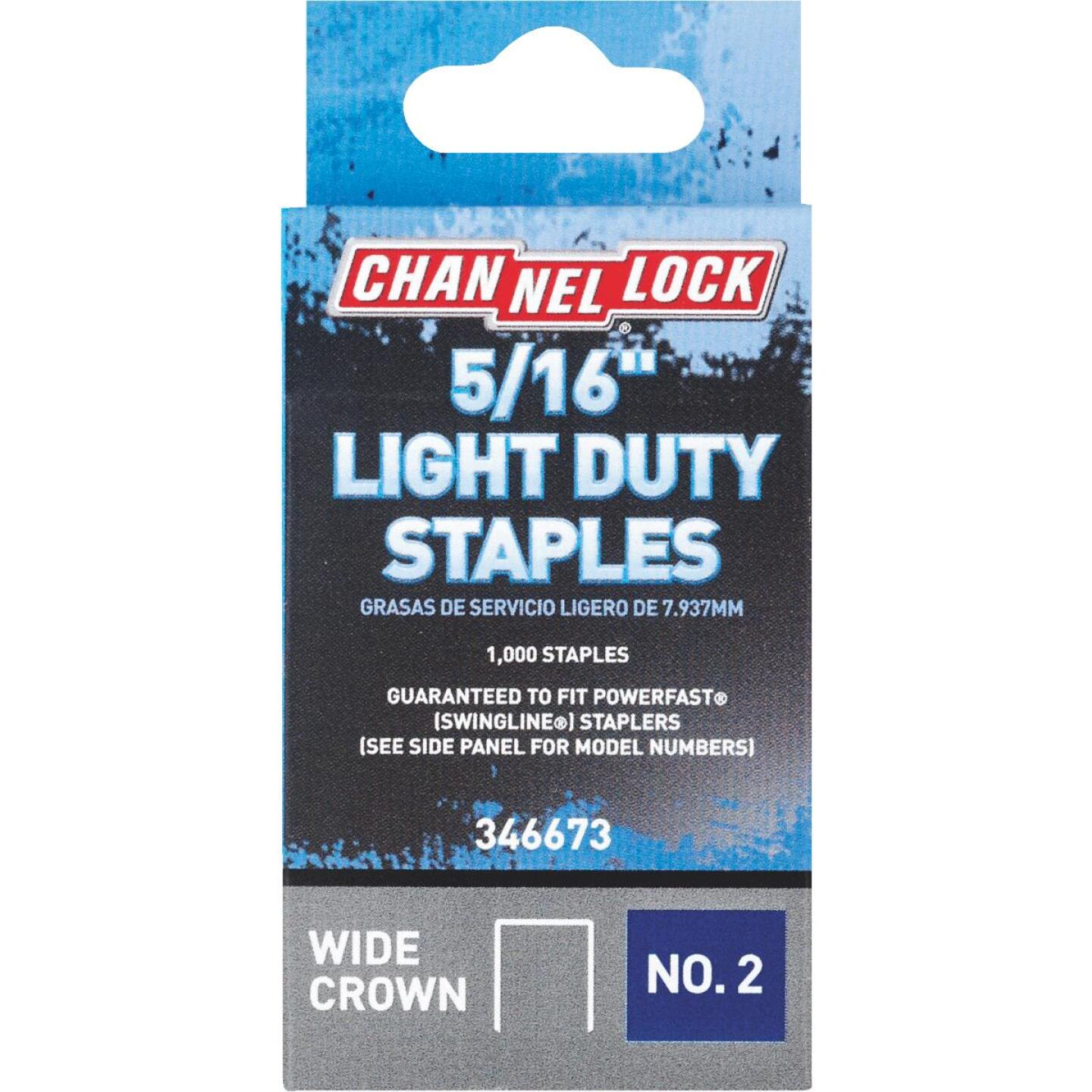 Channellock No. 2 Light Duty Wide Crown Staple, 5/16 In. (1000-Pack) Image 1