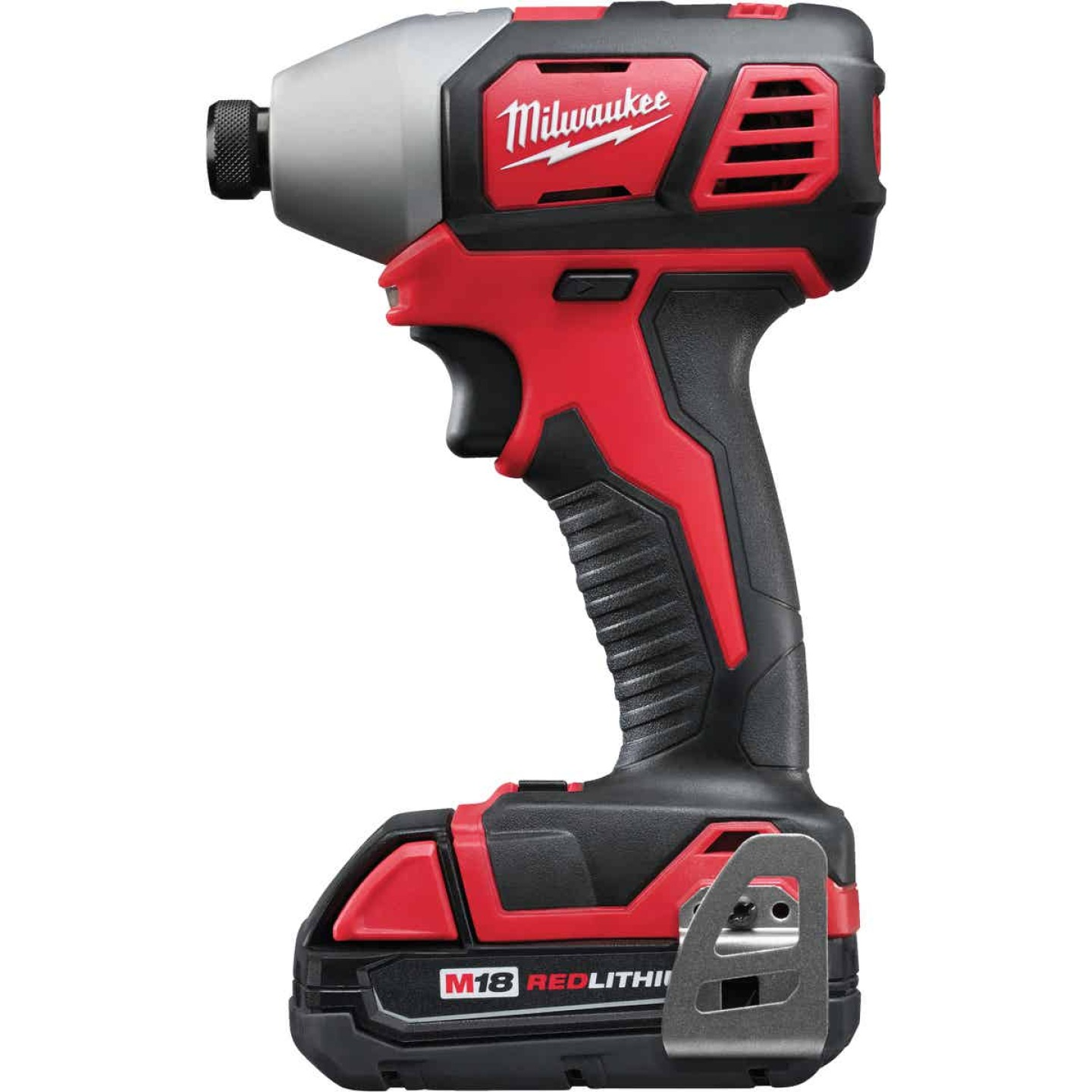 Milwaukee M18 18 Volt Lithium-Ion 2-Speed 1/4 In. Hex Cordless Impact Driver Kit (with 2 Compact Batteries) Image 4