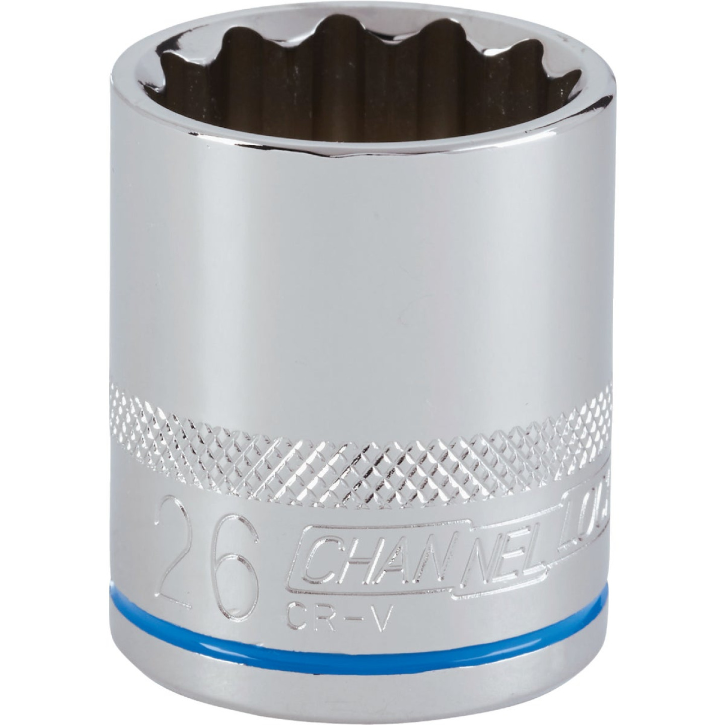 Channellock 1/2 In. Drive 26 mm 12-Point Shallow Metric Socket Image 1