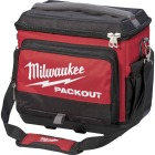 Milwaukee PACKOUT 5-Compartment Soft-Side Cooler, Black & Red Image 1