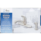 Home Impressions Single Handle Lever Kitchen Faucet with Side Spray, Brushed Nickel Image 2