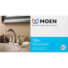 Moen Tiffin Brushed Nickel 2-Handle Lever 4 In. Centerset Bathroom Faucet Image 3