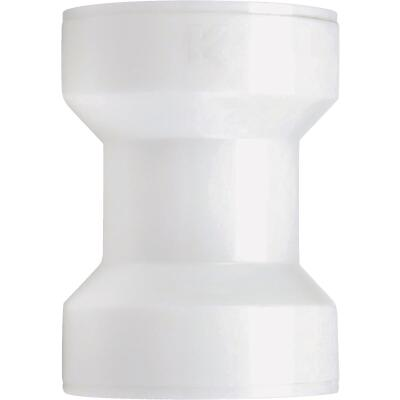 Keeney Insta-Plumb 1-1/2 In. White Plastic Straight Coupling