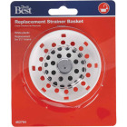 Do it 3-1/2 In. White Plastic Basket Strainer Stopper Image 2