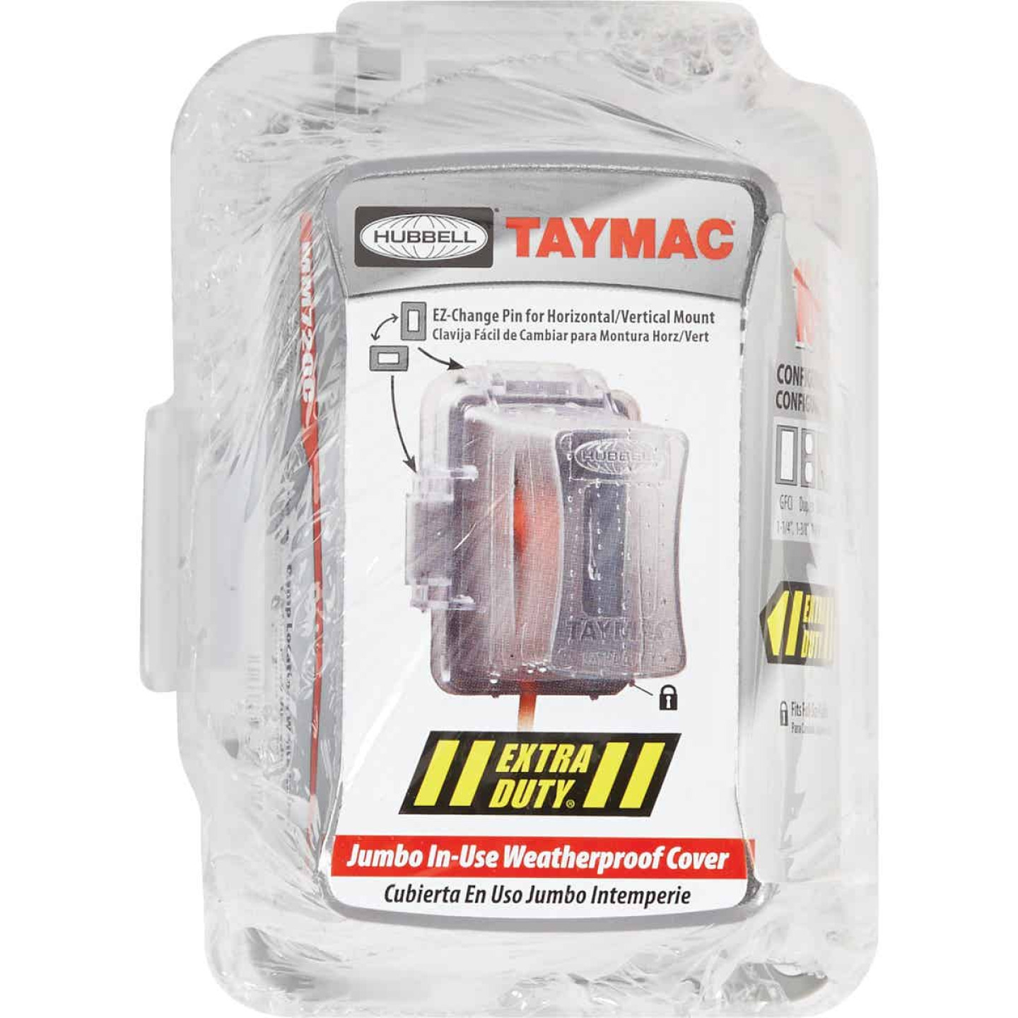 TayMac Extra Duty Single Gang Vertical/Horizontal Mount Polycarbonate Clear Deep In-Use Outdoor Outlet Cover Image 2