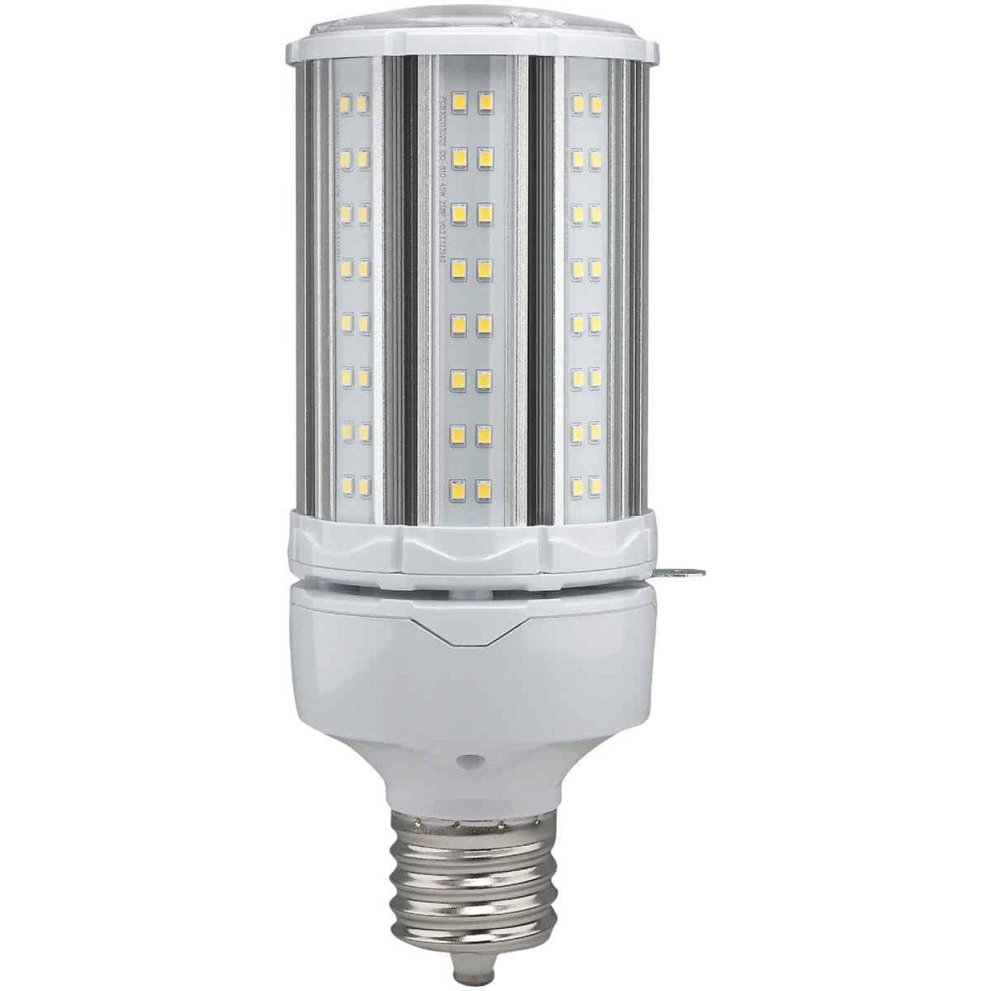 Satco Hi-Pro 45W Clear Corn Cob Mogul Extended Base LED High-Intensity Light Bulb Image 1