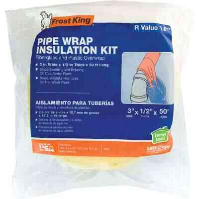 Frost King 1/2 In. x 3 In. x 50 Ft. Fiberglass Pipe Insulation Wrap