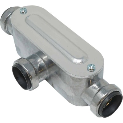 Southwire SimPush 1/2 In. EMT Push-To-Install Type-T Conduit Body