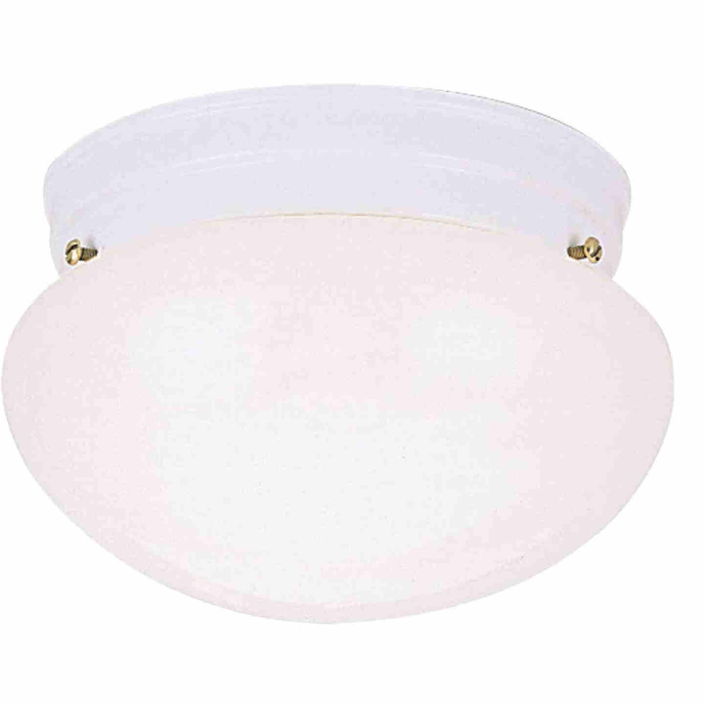 Home Impressions 9-1/2 In. White Incandescent Flush Mount Ceiling Light Fixture Image 1